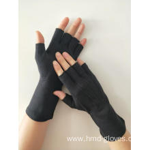 Customized for Cotton Half Finger Gloves Black Fingerless Cotton Gloves supply to Poland Wholesale